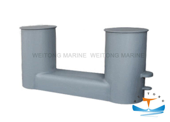DIN 82607 Double Bitt Bollard , Steel Ship Mooring Bollards Customized Service