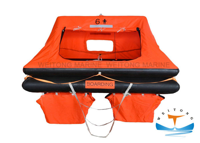 1060x580mm 6 Person Marine Life Raft 82 Kg Weight For Yacht Small Craft