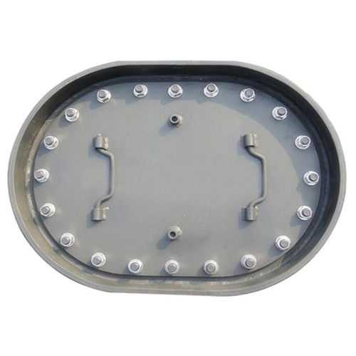 Embedded Type C Manhole , Watertight Manhole Cover Long Circle Shape With Shield