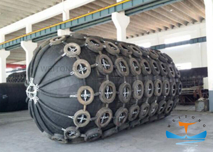 Cylindrical Yokohama Marine Pneumatic Rubber Fender With SGS Certificate