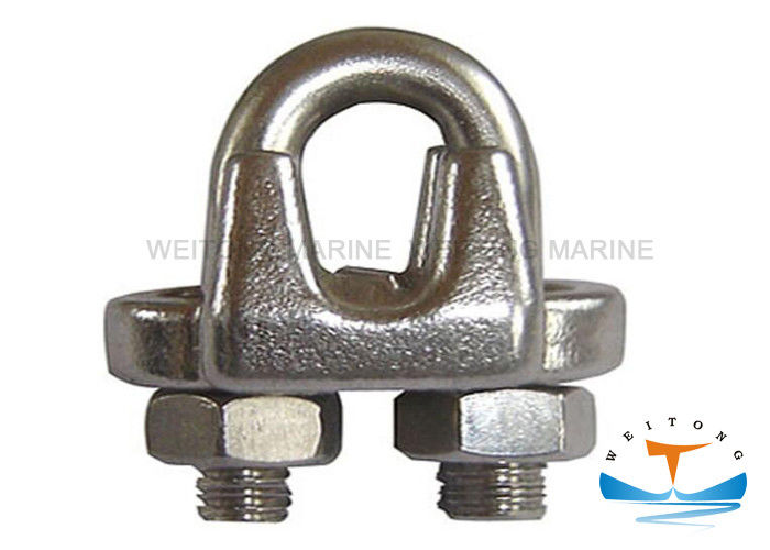 Us Type G450 Malleable Galvanized metal Wire Rope Clip Size 1/8'' -  3""