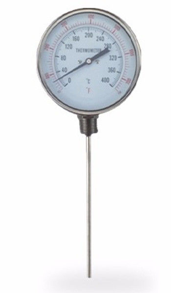 Bottom Connection Boiler Bimetal Thermometer High Sensitivity